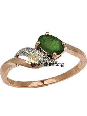 Brillantenring mit Smaragd