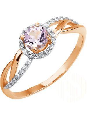Ein wunderschöner Ring mit Amethyst und 30 Cubik Zirkonia, AlmazHolding